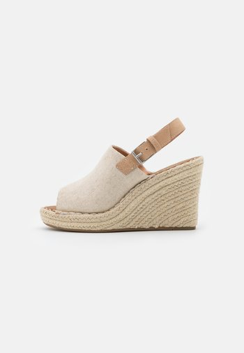 MONICA - Platform sandals - natural
