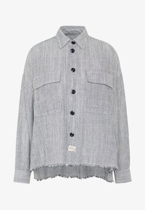 LASH CHAMBRAY STRIPES - Košile - white