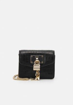 ELISSA MICRO MINI CROCO XBODY - Across body bag - black/gold