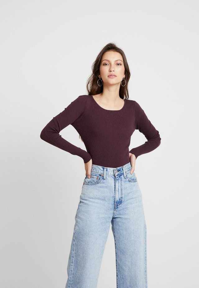 LONG SLEEVE BODYSUIT - Long sleeved top - burgundy