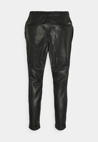 Tigha - ALEKO CROPPED  - Leather trousers - black - 1