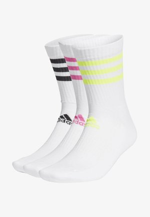 3-STRIPES CUSHIONED CREW SOCKS 3 PAIRS - Calcetines de deporte - white