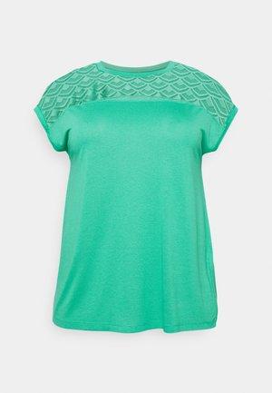 CARFLAKE LIFE MIX TOP  - T-shirts med print - sea green