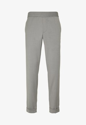 TERRY CROPPED PANTS - Trousers - mid grey melange