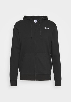 ESSENTIALS SPORTS HOODED TRACK - Mikina na zip - black