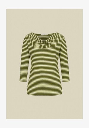 Long sleeved top - olive/off white