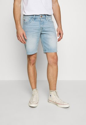 Denim shorts - paint it blauw