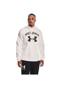 Under Armour - RIVAL TERRY BIG LOGO HD-WHT - Hoodie - onyx white - 0