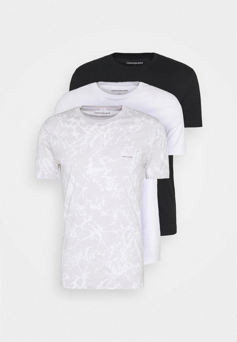 Calvin Klein Jeans - TEE 3 PACK  - T-shirt basic - black/ grey / bright white
