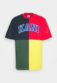Karl Kani - BLOCK TEE - Print T-shirt - navy - 3