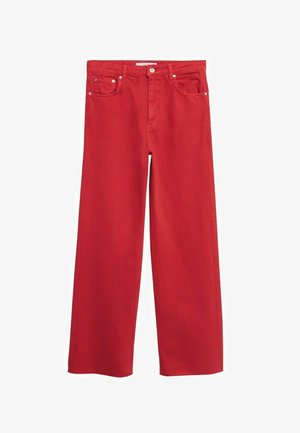 MIT HOHER TAILLE - Flared Jeans - rot