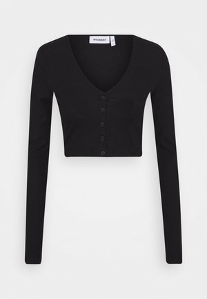 TEEGAN CARDIGAN - Strickjacke - black