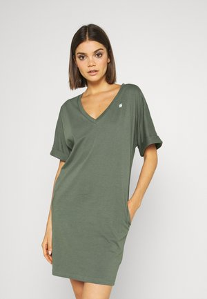 LOOSE DRESS V WMN S\S - Jersey dress - orphus