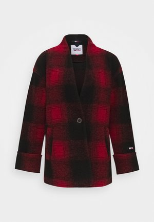 Blazer - deep crimson/black