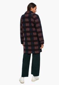 Q/S designed by - Short coat - dark ruby check - 2