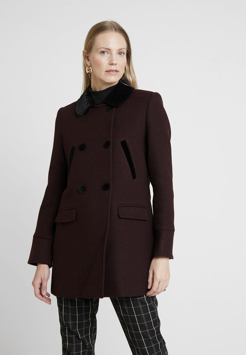 NAF NAF - CHARLOTTE - Zimní kabát - prune