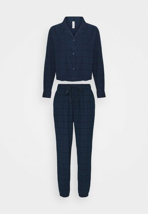 SLEEP PANT SET - Pyjama set - simple navy