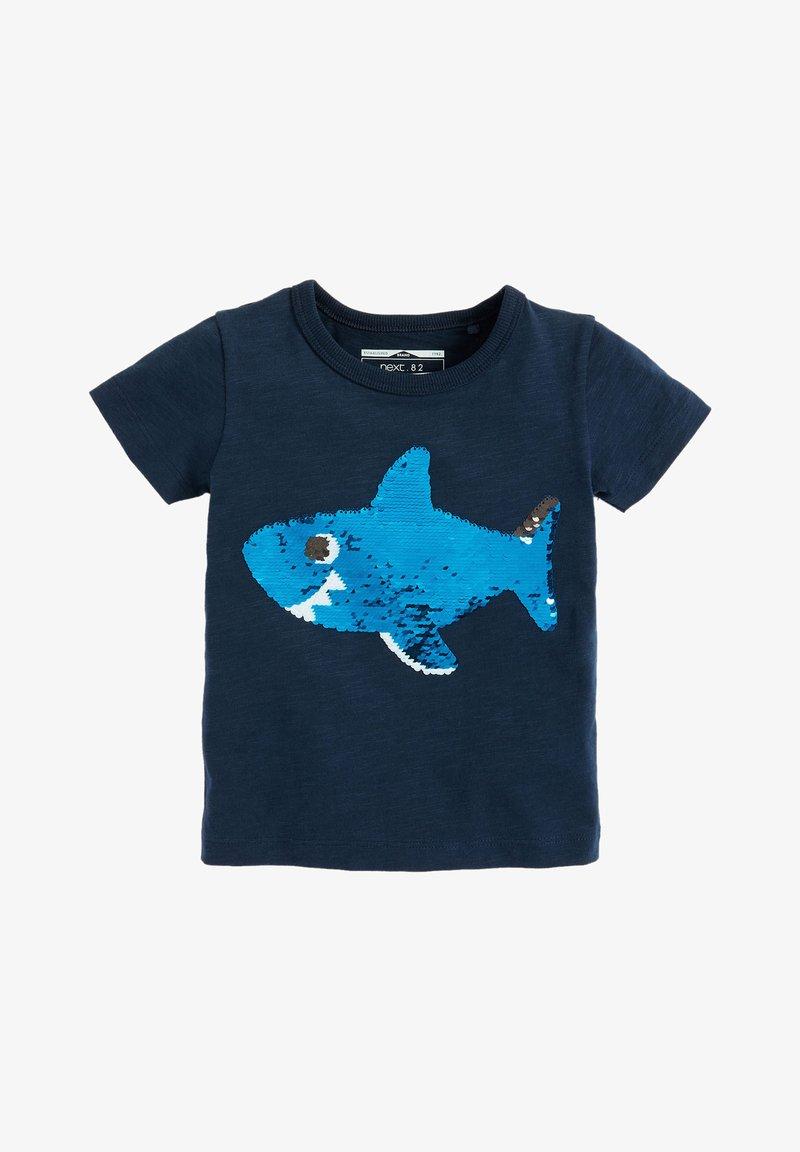 Next - SHORT SLEEVE - Print T-shirt - dark blue