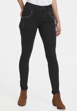 CARMEN HIGHWAIST SKINNY - Jeans Skinny Fit - black denim