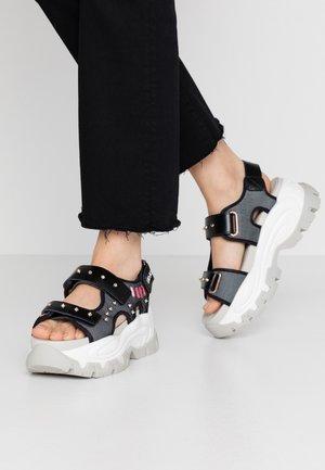 WAVE - Sandály na platformě - black