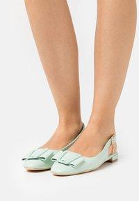 Laura Biagiotti - Slingback ballet pumps - mint - 0