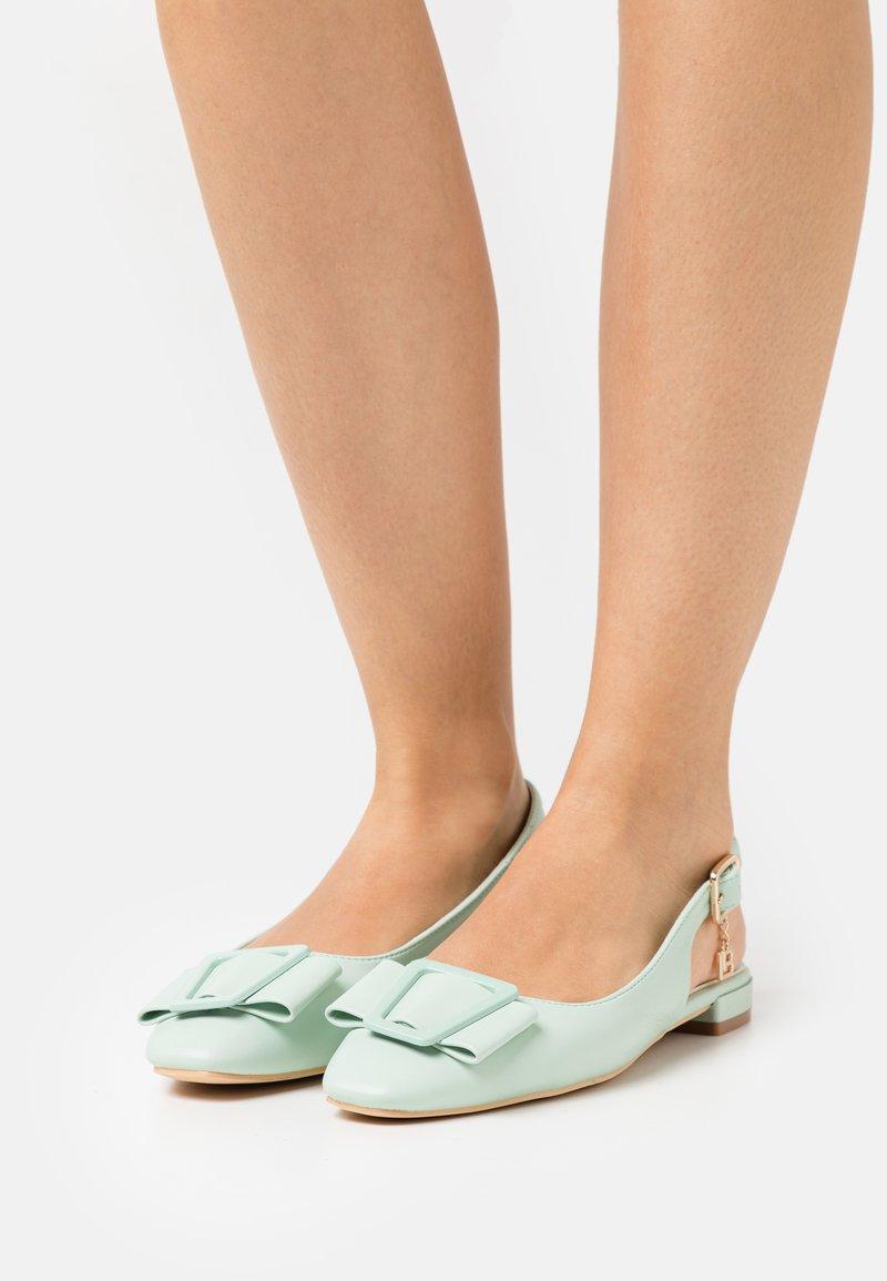 Laura Biagiotti - Slingback ballet pumps - mint