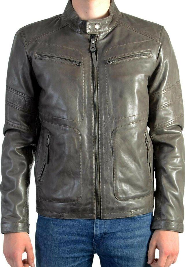 LEERON CASTING - Veste en cuir - gris