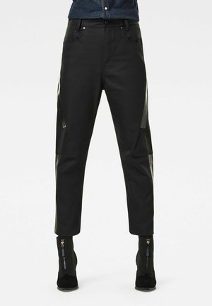 X-STAQ 3D BOYFRIEND CROP  CT - Relaxed fit jeans - pitch black