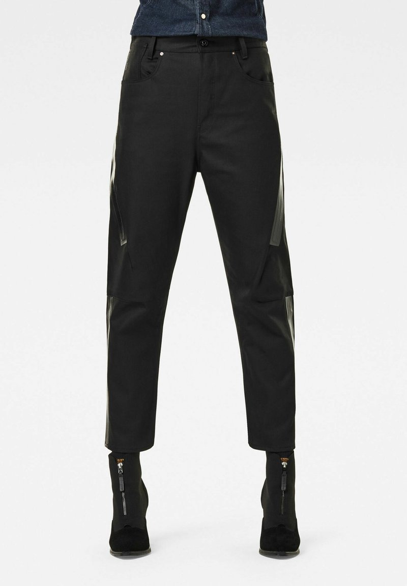 G-Star - X-STAQ 3D BOYFRIEND CROP  CT - Relaxed fit jeans - pitch black