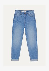 Bershka - MOM - Jean droit - blue-black denim - 4
