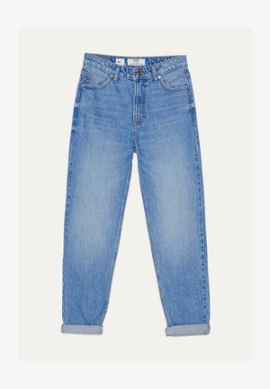 MOM - Jeansy Straight Leg - blue-black denim