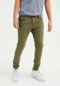 WE Fashion - Slim fit jeans - army green - 1