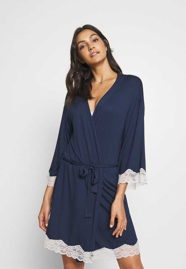DRESSING-GOWN - Dressing gown - black iris