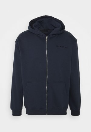ESSENTIAL REGULAR ZIP UP HOODIE - Felpa aperta - navy