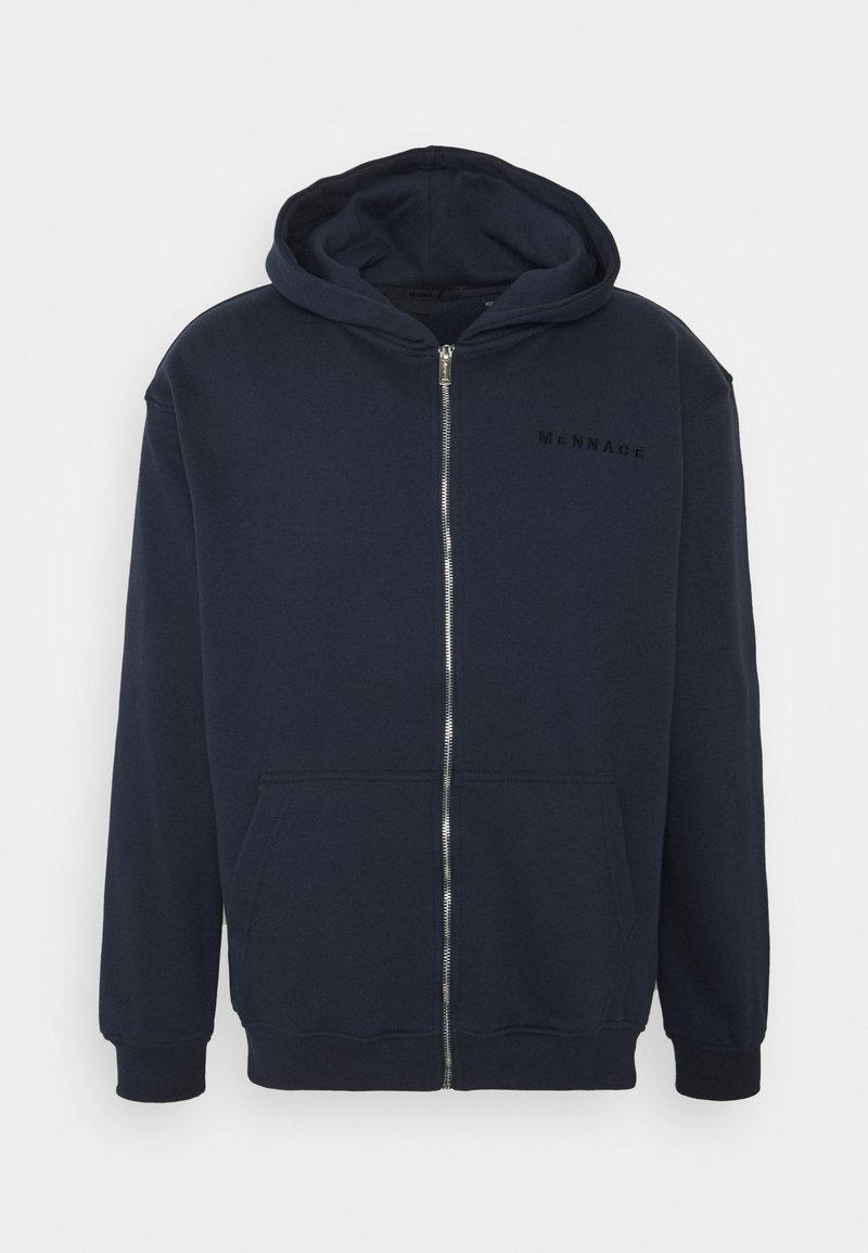 Mennace - ESSENTIAL REGULAR ZIP UP HOODIE - Zip-up hoodie - navy