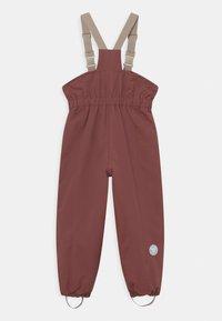 Wheat - SKI PANTS UNISEX - Snow pants - maroon - 1