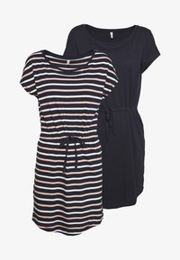 ONLY Petite - ONLMAY LIFE DRESS 2 PACK - Jersey dress - night sky/multi misty - 5