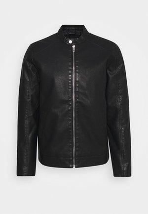 LAURI - Faux leather jacket - black