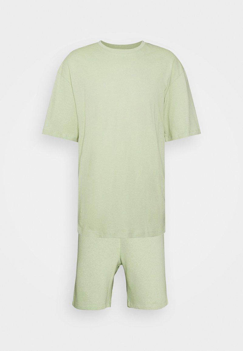 Jack & Jones - JORBRINK TEE CREW NECK SET - Jednoduché triko - celadon green