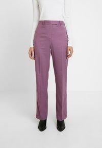 Calvin Klein - FINE CIGARETTE PANT - Trousers - purple - 0