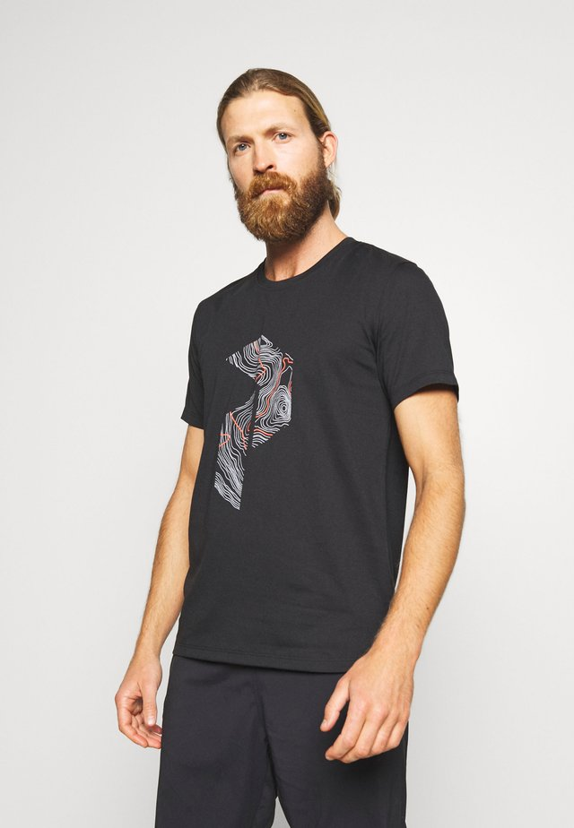 EXPLORE TEE PRINT - T-shirt con stampa - black