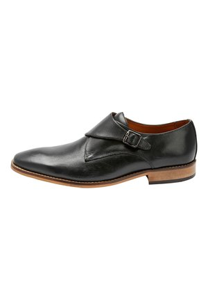 BLACK SINGLE MONKSTRAP SHOES - Puvunkengät - black