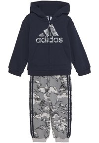 adidas Performance - FAVOURITES TRAINING SPORTS TRACKSUIT BABY SET - Dres - legend ink/grey three - 3
