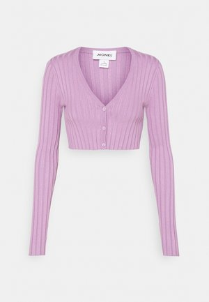DORIS CROPPED CARDIGAN - Chaqueta de punto - purple