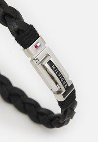 Tommy Hilfiger - FLAT BRAIDED BRACELET - Bracelet - black/silver - 1