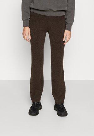 AURA - Leggings - Trousers - dark brown