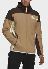adidas Performance - Zip-up sweatshirt - brown - 3