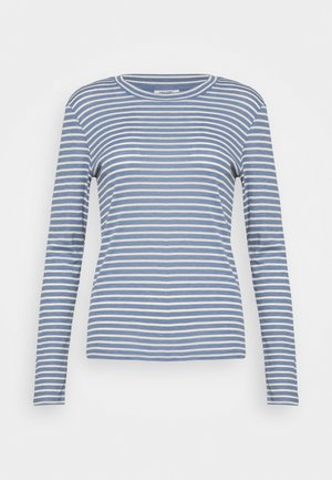 LONGSLEEVE SLIM FIT STRIPE - Topper langermet - blue