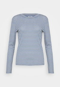 Marc O'Polo DENIM - LONGSLEEVE SLIM FIT STRIPE - Long sleeved top - blue - 3
