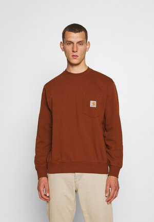 POCKET - Sweatshirt - brandy